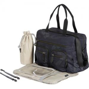 OiOi – Carry All Black Protea Nappy Bag