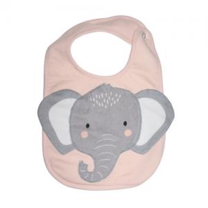 Mister Fly – Animal Face Bib – Elephant pink