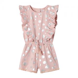 Cracked Soda – Dusty Pink Jumpsuit w/foil spots