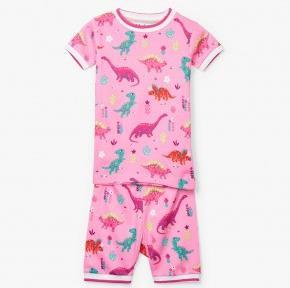 HATLEY – Darling Dinos Organic Cotton Short Pajamas