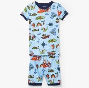 HATLEY – Sea Monsters Organic Cotton Short Pajamas