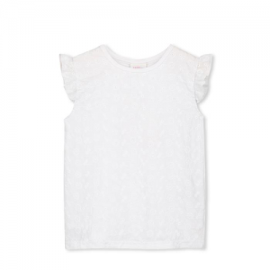MILKY – Broderie Front tee