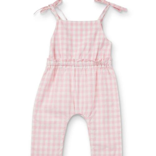 WALNUT – Indie Gingham Jumpsuit Pink