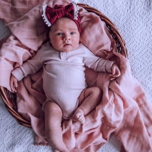 SNUGGLE HUNNY – Musk Pink I Organic Muslin Wrap