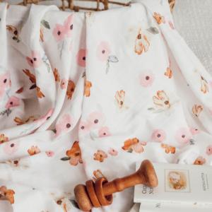 SNUGGLE HUNNY – Poppy I Organic Muslin Wrap