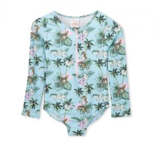 Milky – tropical L/S Swimsuit