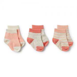 Wilson&Frenchy – Watermelon, Peach Dust, Fleck 3 Pack Baby Socks