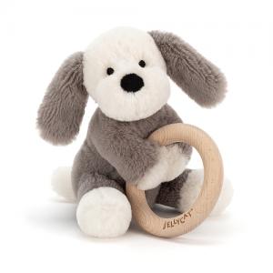 Jellycat – Shooshu Puppy Wooden Ring