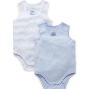 Pure Baby – Rib Bodysuit 2 pack