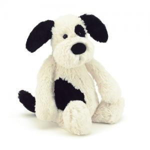 JELLYCAT – Bashful Black & Cream Puppy Small