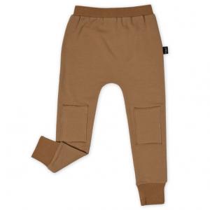 KAPOW – Tan Skinny Knee Patch Trackpants