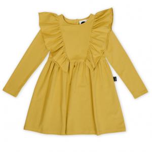 KAPOW – Mustard Ruffle Waisted Dress