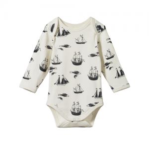 Nature Baby – Long Sleeve Bodysuit – Voyage Print