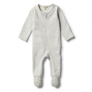 Wilson&Frenchy – Organic Cloud Grey Zipsuit