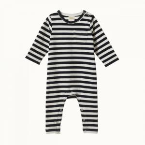 Nature Baby – Long Sleeve Romper – Navy Sea Stripe
