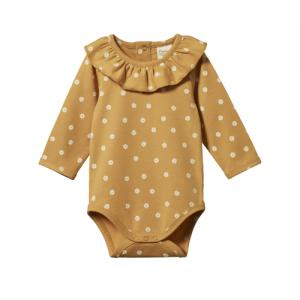 Nature Baby – Primrose Bodysuit – Chamoline Straw Print