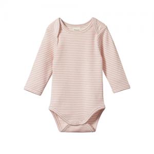 Nature Baby – Long Sleeve Bodysuit – Rose Bud
