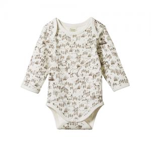 Nature Baby – Long Sleeve Bodysuit – Barnyard Print