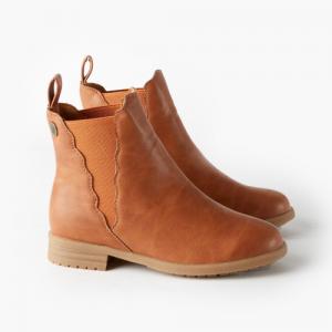 WALNUT – Kendall Scalloped Boot