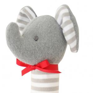 Alimrose – HAND SQ – ELEPHANT STRIPE GREY