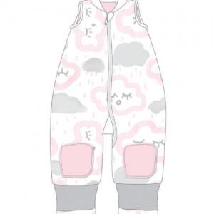 BABY STUDIO – Warmies No Arms Cotton 2.5 TOG CLOUDS PINK