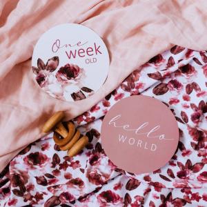 Snuggle Hunny – Fleur & Jewel Reversible Milestone Cards