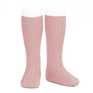 CONDOR – Ribbed Knee High Socks – 526 Rosa Palo