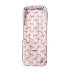 OiOi – Reversible Pram Liner – Zebra/Pink/Grey Gingham
