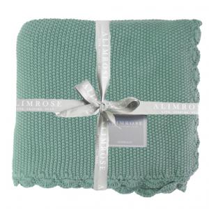Alimrose – KNIT MINI MOSS STITCH ORGANIC COTTON BABY BLANKET – SAGE