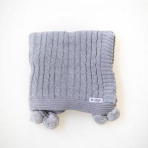 Di Lussio – Sasha Baby Blanket – Grey