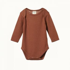 Nature Baby – Merino pointelle long sleeve bodysuit