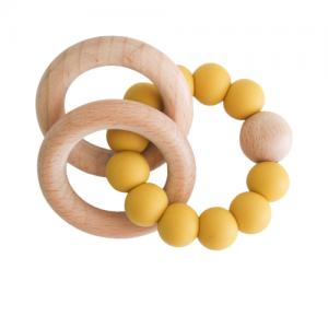 Alimrose – Beechwood Teether Rings Set – Butterscotch