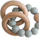 Alimrose – Beechwood Teether Rings Set – Sage