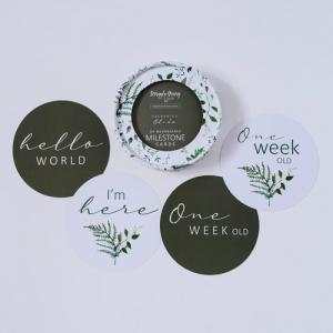 SNUGGLE HUNNY – Enchanted & Olive Reversible Milestone Cards