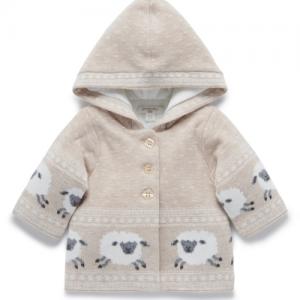 Pure Baby – Padded Jacket – Wheat Lamb Fairisle