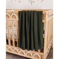 Snuggle Hunny – Olive | Diamond Knit Baby Blanket