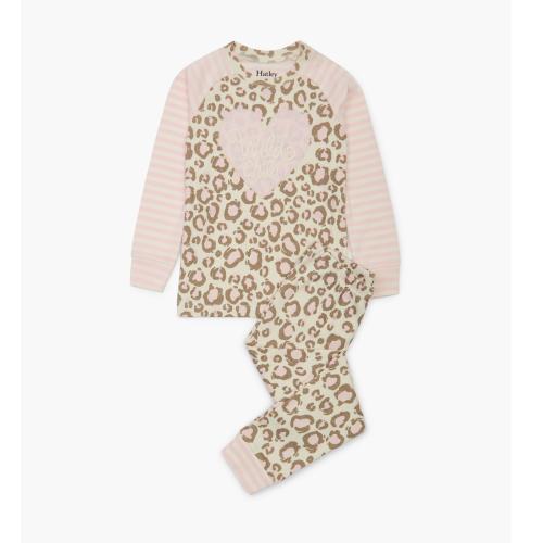 Hatley – Painted Leopard Organic Cotton Pajama Set